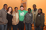 Japhet Katanga, Niamh Rooney, Elly Miay, Rose Ringo, Garreth Conlon, Lawrenc and Mary Mambosho at the Development Perspectives Meeting in The Barbican...(Photo credit should read Jenny Matthews www.newsfile.ie)....This Picture has been sent you under the conditions enclosed by:.Newsfile Ltd..The Studio,.Millmount Abbey,.Drogheda,.Co Meath..Ireland..Tel: +353(0)41-9871240.Fax: +353(0)41-9871260.GSM: +353(0)86-2500958.email: pictures@newsfile.ie.www.newsfile.ie.