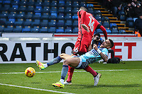 Paris Cowan-Hall of Wycombe Wanderers and Nicky Hunt of Leyton Orient (16) battle for the ball during the Sky Bet League 2 match between Wycombe Wanderers and Leyton Orient at Adams Park, High Wycombe, England on 17 December 2016. Photo by David Horn / PRiME Media Images.
