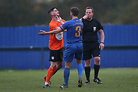Tom Newman of Soham and Ben Turner of Romford during Romford vs Soham Town Rangers, BetVictor League North Division Football at the Brentwood Centre on 2nd November 2019