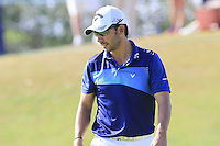 Pablo Larrazabal (ESP) on the 13th green during Thursday's Round 1 of the 2016 Portugal Masters held at the Oceanico Victoria Golf Course, Vilamoura, Algarve, Portugal. 19th October 2016.<br /> Picture: Eoin Clarke | Golffile<br /> <br /> <br /> All photos usage must carry mandatory copyright credit (&copy; Golffile | Eoin Clarke)