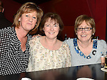 Mary Waters, Susan Heron and Karen Saurin pictured at the benefit night for DJ Tayo Sheridan in Galaxy Night Club. Photo:Colin Bell/pressphotos.ie