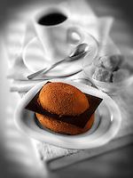 Individual chocolate cake