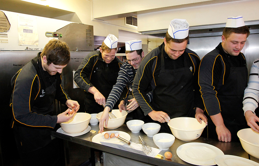 Photo: Richard Lane/Richard Lane Photography. London Wasps Shrove Tuesday Pancake Making Comptition. 12/02/2013.