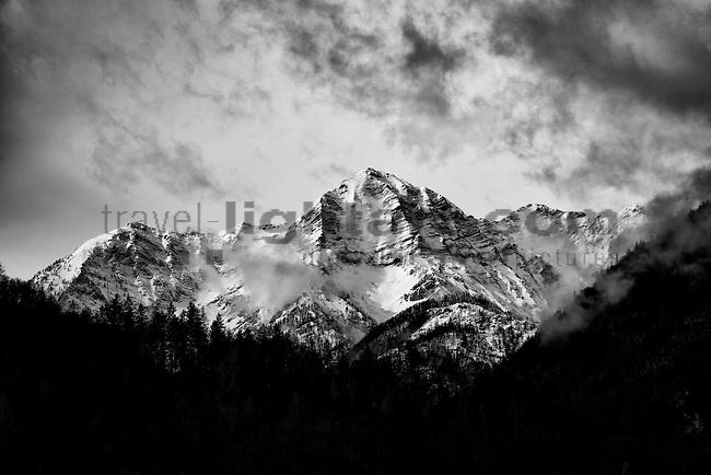Berge, Winter, Kleiner Priel (Totes Gebirge), near St. Pankraz, Oberösterreich, Austria, Österreich, Oesterreich.