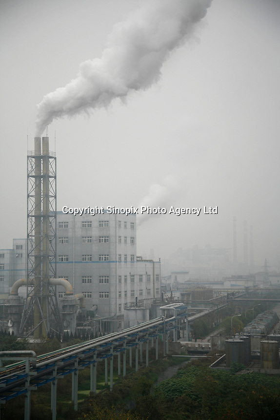 A view of the Quzhou Juhua Chemical Factory in Quzhou, China..21 Nov 2006..