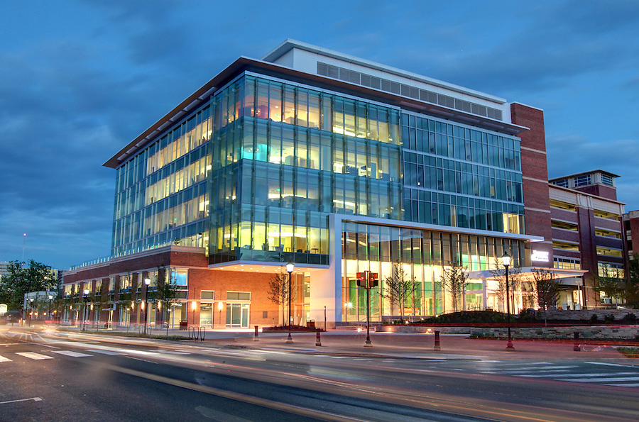 The new Battle Building at UVA Children's Hospital located on West Main Street in Charlottesville, VA. The new building has seven floors and 200,000 square feet to house dozens of pediatric specialties, ranging from primary to specialized care in cancer, heart disorders and many other pediatric illnesses. Photo/Andrew Shurtleff