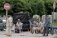 Tabarka, Tunisia, 18 Settembre 2018<br /> Uomini in strada