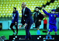 Victory coach Kevin Muscat reacts during the A-League football match between Wellington Phoenix and Melbourne Victory at Westpac Stadium in Wellington, New Zealand on Friday, 10 January 2018. Photo: Dave Lintott / lintottphoto.co.nz