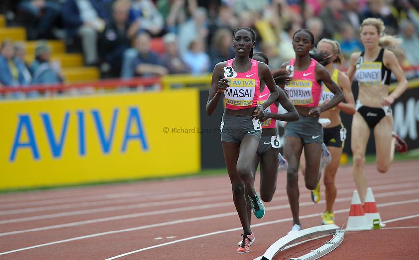 Photo: Ady Kerry/Richard Lane Photography..Aviva British Grand Prix. 31/08/2009. .Linet Masai in the 3000m