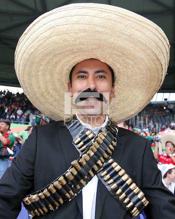 A Pancho Villa look a like. Mexico and Angola played to a 0-0 tie in their FIFA World Cup Group D match at FIFA World Cup Stadium, Hanover, Germany, June 16, 2006.