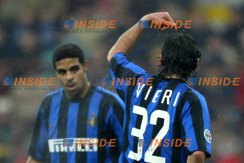 Milano 21/2/2004<br /> Milan Inter 3-2 <br /> Christian Vieri (right) and Adriano (Inter) <br /> Foto Carlo Baroncini Insidefoto