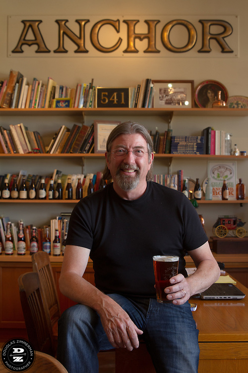 Keith Greggor, president and CEO of Anchor Brewers & Distillers at the Anchor Steam brewery in his office in San Francisco, Calif.
