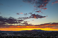 Sunset over Los Angeles from Occidental College's Fiji Hill on Oct. 1, 2018.<br /> (Photo by Marc Campos, Occidental College Photographer)