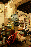 Vintage antique shop in Cukurcuma, Beyoglu, Istanbul, Turkey