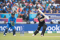 Kane Williamson (New Zealand) drives through the covers during India vs New Zealand, ICC World Cup Semi-Final Cricket at Old Trafford on 9th July 2019