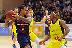 XXXVIII Lliga Nacional Catalana ACB 2017.<br /> FC Barcelona Lassa vs BC Morabanc Andorra: 89-70.<br /> Edwin Jackson vs Andrew Albicy.