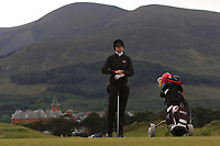 Noemie Pare (CAN) on the 2nd tee during Round 2 of the Women's Amateur Championship at Royal County Down Golf Club in Newcastle Co. Down on Wednesday 12th June 2019.<br /> Picture:  Thos Caffrey / www.golffile.ie
