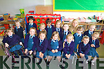 HERE WE GO: Junior Infants enjoying their first day at school last Thursday at the Presentation Convent School in Listowel with their teacher Elvina McDermott.