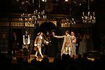 Sam Crane and Mark Rylance with the cast during the Broadway Opening Night performance Curtain Call Bows for 'Farinelli and the King' at The Belasco Theatre on December 17, 2017 in New York City.