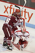 Joseph Widmar (UMass - 26), Charlie McAvoy (BU - 7), Jake Oettinger (BU - 29) - The Boston University Terriers defeated the University of Massachusetts Minutemen 3-1 on Friday, February 3, 2017, at Agganis Arena in Boston, Massachusetts.The Boston University Terriers defeated the visiting University of Massachusetts Amherst Minutemen 3-1 on Friday, February 3, 2017, at Agganis Arena in Boston, MA.