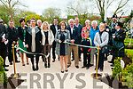 Garden Opening: Cllr. Diane Nolan, SF cutting the tape to officially open the Centenary Garden to commemorate the 1916 Rising in the Town Park, Listowel on Easter Monday morning.