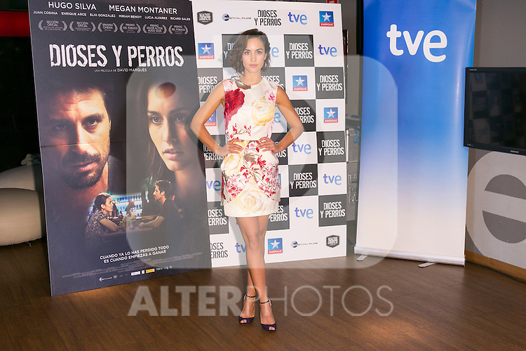 "Spanish Actress Megan Montaner attends the ""DIOSES Y PERROS "" Movie presentation at Kinepolis Cinema in Madrid, Spain. October 6, 2014. (ALTERPHOTOS/Carlos Dafonte)"