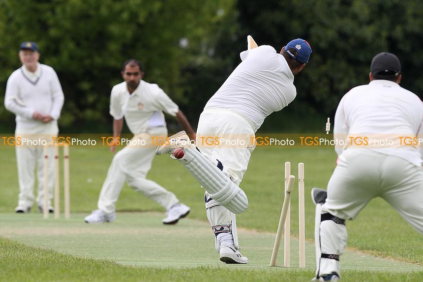 N Lopes of Gidea Park & Romford takes the wicket of R Old - Upminster CC 6th XI vs Gidea Park & Romford CC 5th XI - Essex Cricket League at Gaynes Park School - 15/05/10 - MANDATORY CREDIT: Gavin Ellis/TGSPHOTO - Self billing applies where appropriate - Tel: 0845 094 6026