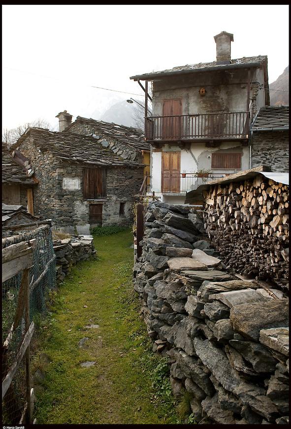 Il paese di Usseglio nella Valle di Viu