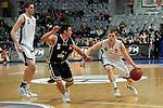Mannheim 17.01.2009, NBBL Team Nord Janek Schmidkunz am Ball gegen NBBL Team S&uuml;d Yannick Schicktanz und links schaut NBBL Team Nord Jonas Wohlfarth-Battermann zu im Spiel NBBL S&uuml;d - NBBL Nord beim BBL Allstar Day in der SAP Arena<br /> <br /> Foto &copy; Rhein-Neckar-Picture *** Foto ist honorarpflichtig! *** Auf Anfrage in h&ouml;herer Qualit&auml;t/Aufl&ouml;sung. Belegexemplar erbeten.