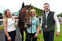 Connections of La Rav in the winners enclosure after winning The Bathwick Tyres Maiden Stakes, during Afternoon Racing at Salisbury Racecourse on 13th June 2017