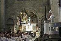 Cardinal Marc Ouellet takes part into his farewell Mass in St-Annes-de-Beaupre Basilica, 45 minutes East of Quebec City, August 15 2010. Cardinal Ouellet leaves Quebec for Vatican, as we was recently named Prefect of the Congregation for Bishops and President of the Pontifical Commission for Latin America.