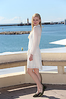 Katia Elizarova, the Russian model attends the Mipcom in Cannes - France