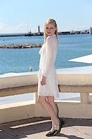 Katia Elizarova, the Russian model attends the Mipcom in Cannes - France