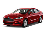Front three quarter view of a <br /> 2013 Ford Fusion Hybrid 4dr Front-Wheel Drive Sedan SE