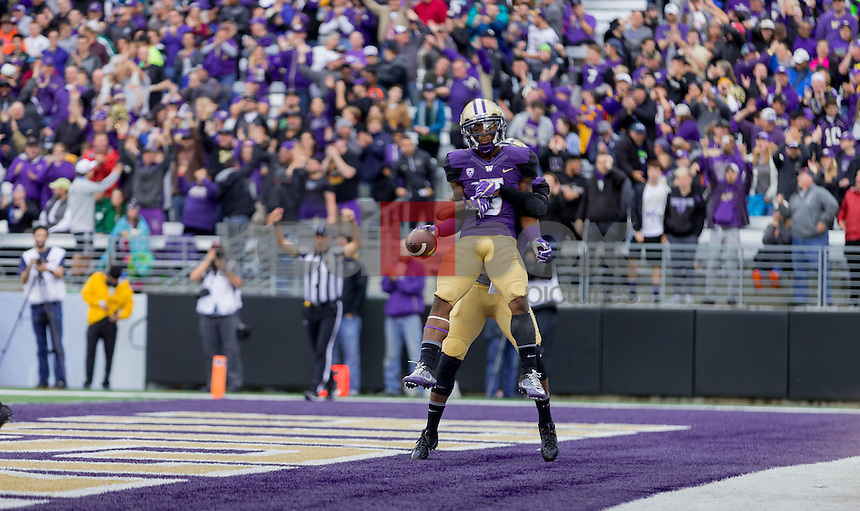 The University of Washington  football team plays Portland State University at Husky Stadium on September 17, 2016. (Photography by Scott Eklund/Red Box Pictures)