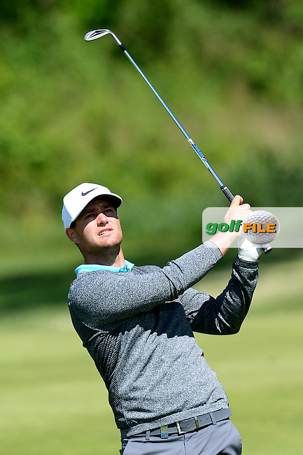 Lucas Bjerregaard of Denmark during Round 4 of the Nordea Masters, Bro Hof Slott Golf Club, Stockholm, Sweden. 05/06/2016<br /> Picture: Richard Martin-Roberts / Golffile<br /> <br /> All photos usage must carry mandatory copyright credit (&copy; Golffile | Richard Martin- Roberts)