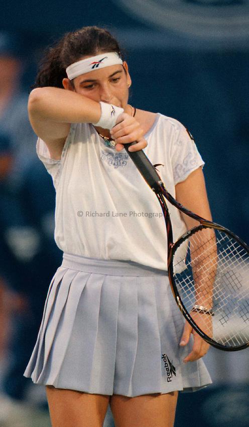 Photo. Abbey Wells.Austrailan Open, Melbourne, Austraila, 1996.Arantxa Sanchez
