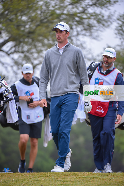 Chesson Hadley (USA) heads down 2 during Round 3 of the Valero Texas Open, AT&T Oaks Course, TPC San Antonio, San Antonio, Texas, USA. 4/21/2018.<br /> Picture: Golffile | Ken Murray<br /> <br /> <br /> All photo usage must carry mandatory copyright credit (© Golffile | Ken Murray)