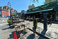 NEW YORK, NY- JUNE 22: West Village Restaurant Olio e Piu Open for Outdoor Dining On Day One of Phase 2 Reopening during the coronavirus pandemic in New York City on June 22, 2020. <br /> CAP/MPI/RMP<br /> ©RMP/MPI/Capital Pictures