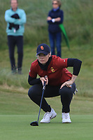 Amelia Garvey (NZL) on the 16th tee during the Matchplay Final of the Women's Amateur Championship at Royal County Down Golf Club in Newcastle Co. Down on Saturday 15th June 2019.<br /> Picture:  Thos Caffrey / www.golffile.ie