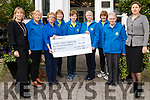 Members of the Listowel Hospice committee presenting a cheque for €2,111 to the Kerry Hospice Foundation after their coffee morning which was held in the Listowel Arms Hotel on Saturday morning.<br /> Included; Patrice Gleasure, Agnes McCarthy, Josie O'Callaghan, Jenny Tarrant, Mary O'Connor, Helen Duggan, Eileen Sheehy, Sr Margaret Flynn and Asya O'Callaghan.
