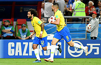 KAZAN - RUSIA, 06-07-2018: RENATO AUGUSTO (#8) jugador de Brasil celebra después de anotar un gol a Bélgica durante partido de cuartos de final por la Copa Mundial de la FIFA Rusia 2018 jugado en el estadio Kazan Arena en Kazán, Rusia. / RENATO AUGUSTO (#8) player of Brazil celebrates after scoring a goal to Belgium during match of quarter final for the FIFA World Cup Russia 2018 played at Kazan Arena stadium in Kazan, Russia. Photo: VizzorImage / Julian Medina / Cont