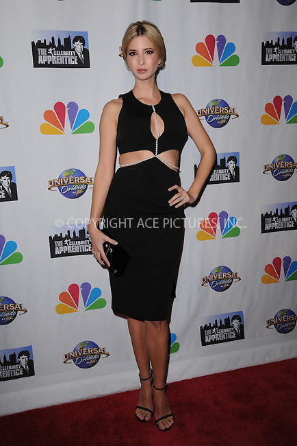 WWW.ACEPIXS.COM<br /> February 16, 2015 New York City<br /> <br /> Ivanka Trump arriving to the Celebrity Apprentice Finale viewing party and post show red carpet on February 16, 2015 in New York City.<br /> <br /> Please byline: Kristin Callahan/AcePictures<br /> <br /> ACEPIXS.COM<br /> <br /> Tel: (646) 769 0430<br /> e-mail: info@acepixs.com<br /> web: http://www.acepixs.com