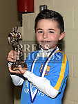 Ardee Celtic Under 8 Blue player of the year  Cian Lane at the Ardee Celtic annual awards night in Ardee parish centre. Photo:Colin Bell/pressphotos.ie