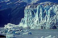 Iceberg calving from tidewater face of Hubbard Glacier, Wrangell-St. Elias National Park, Alaska, AGPix_0026.