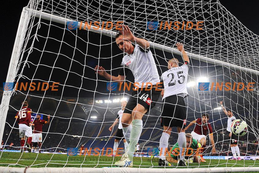 Gol Daniele De Rossi Roma. Goal celebration <br /> Roma 29-10-2014 Stadio Olimpico, Football Calcio Serie A 2014/2015 AS Roma - Cesena. Foto Andrea Staccioli / Insidefoto