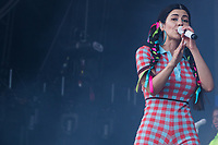 Marina Diamandis aka Marina performs on day 2 of the 2019 Latitude Festival at Henham Park, Suffolk. 20th July 2019<br /> <br /> Photo by Stuart Hogben