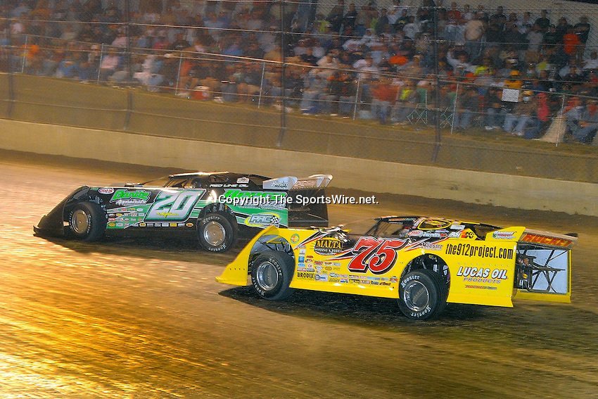 Sep 12, 2009; 10:33:35 PM; Rossburg, OH., USA; The 39th annual running of the World 100 Dirt Late Models racing for the Globe trophy at the Eldora Speedway.  Mandatory Credit: (thesportswire.net)