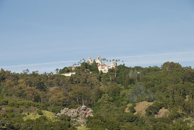 California, San Luis Obispo County: Hearst Castle State Park, formerly the palatial hillside home of publisher William Randoph Hearst..Photo caluis206-70972.Photo copyright Lee Foster, www.fostertravel.com, 510-549-2202, lee@fostertravel.com