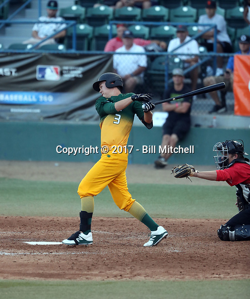 Bryce Begell plays in the 2017 Area Code Games on August 6-10, 2017 at Blair Field in Long Beach, California (Bill Mitchell)